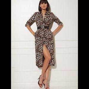 New York and company leopard print dress